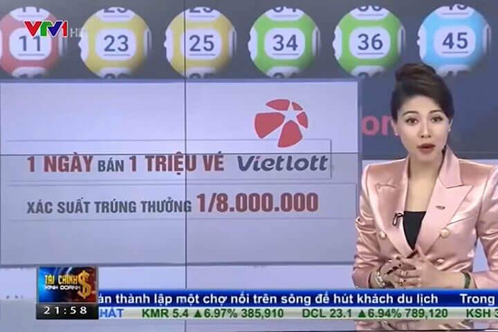 VTV1 đưa tin Vietlott