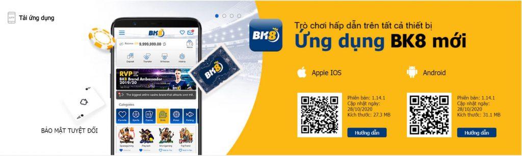 BK8 phiên bản di dộng App