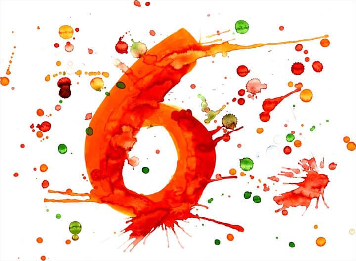 mơ thấy số 6 màu đỏ