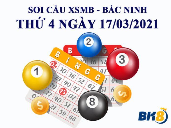 Dự đoán kết quả xổ số Bắc Ninh thứ 4 ngày 17/03/2021