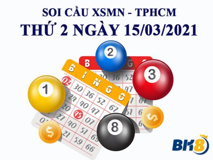 Soi cầu XSMN đài TP.HCM thứ 2 ngày 15/03/2021