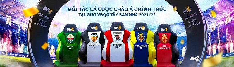 BK8 - Đối tác chính thức của 5 đội bóng giải VĐQG TBN 2021 - 2022